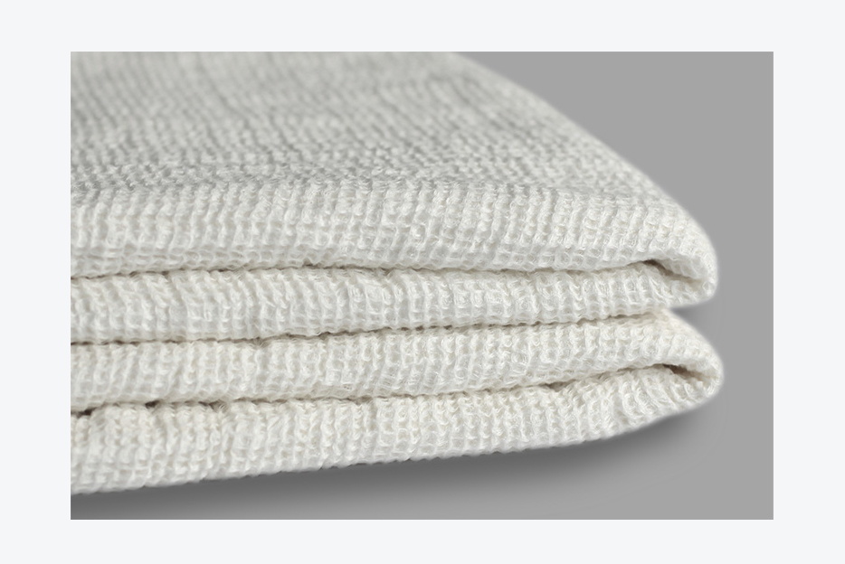 100% pure French linen waffle blanket