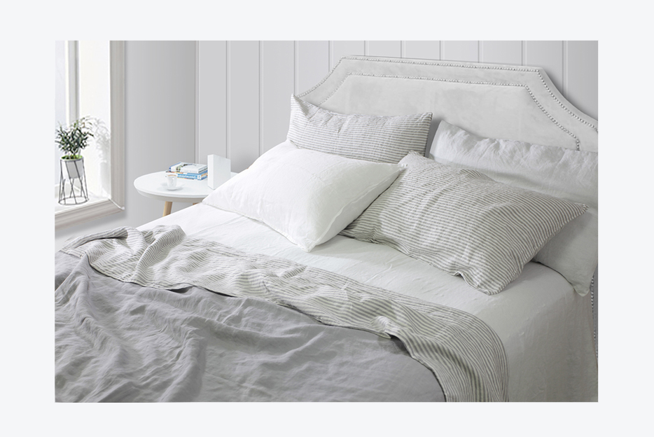 100% nature linen bedding set/ linen bed sheet