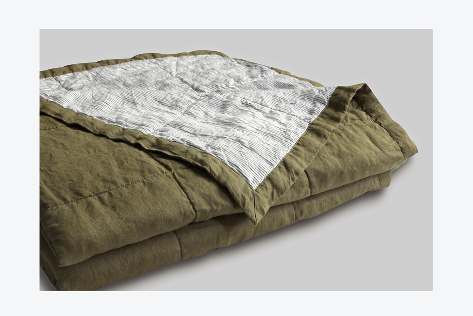 100% pure French linen quilt