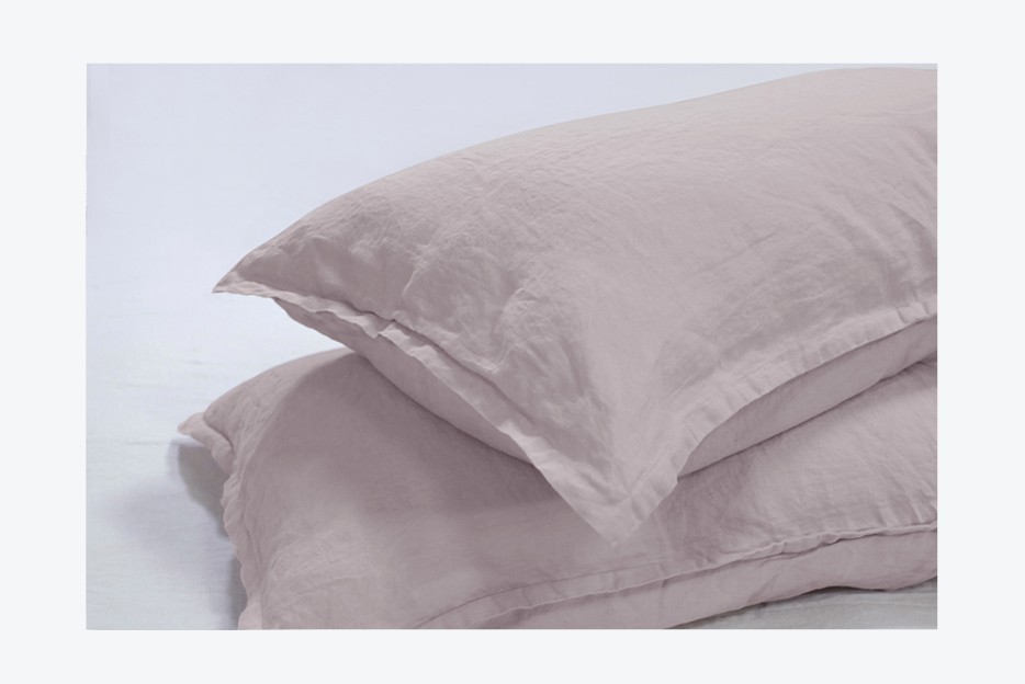 stone washed 100% french linen duvet cover (button )